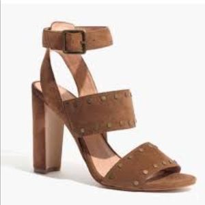Madewell Octavia brown suede studded sandals